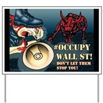 Custom Occupy Wall Street Yard Sign