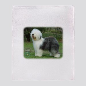 Old English Sheepdog 9F054D-08 Throw Blanket