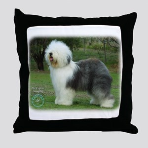 Old English Sheepdog 9F054D-08 Throw Pillow