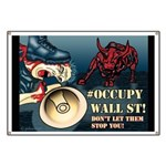 This is an Occupy Wall St Banner for the protests