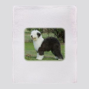 Old English Sheepdog 9F055D-17 Throw Blanket