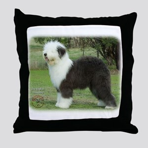 Old English Sheepdog 9F055D-17 Throw Pillow