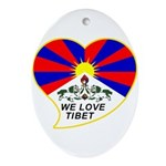 We love Tibet Ornament (Oval)