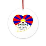 We love Tibet Ornament (Round)