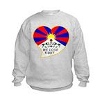 We love Tibet Kids Sweatshirt