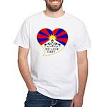 We love Tibet White T-Shirt