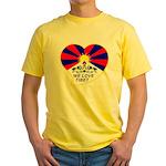 We love Tibet Yellow T-Shirt
