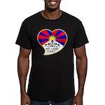 We love Tibet Men's Fitted T-Shirt (dark)
