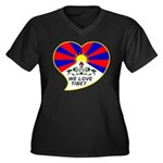 We love Tibet Women's Plus Size V-Neck Dark T-Shir