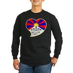We love Tibet Long Sleeve Dark T-Shirt