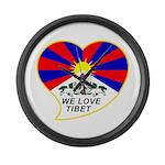 We love Tibet Large Wall Clock