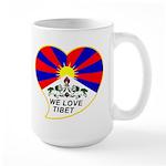 We love Tibet Large Mug