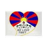 We love Tibet Rectangle Magnet