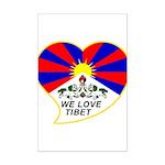 We love Tibet Mini Poster Print