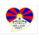 We love Tibet Small Poster