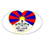 We love Tibet Sticker (Oval)