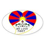 We love Tibet Sticker (Oval 10 pk)