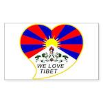 We love Tibet Sticker (Rectangle)