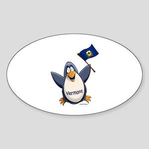 Vermont Penguin Sticker (Oval)