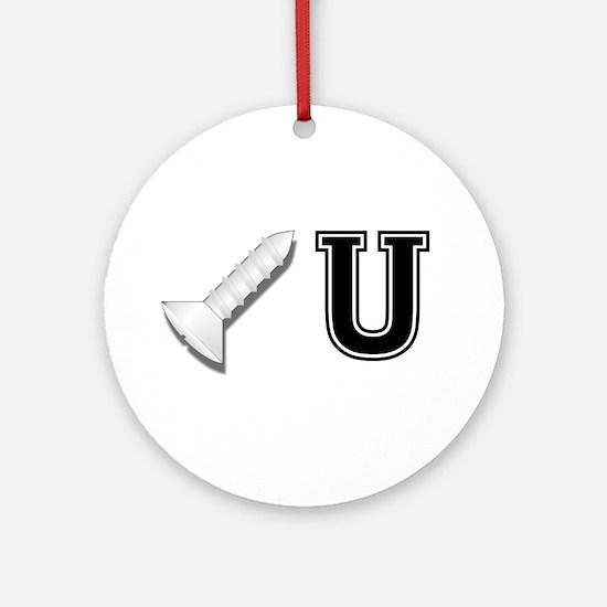Screw U Ornament (Round)