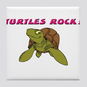 TURTLES ROCK Tile Coaster