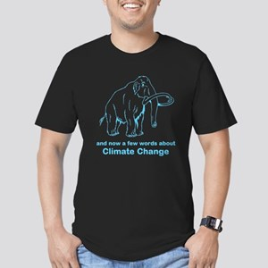 Climate Change Men's Fitted T-Shirt (dark)