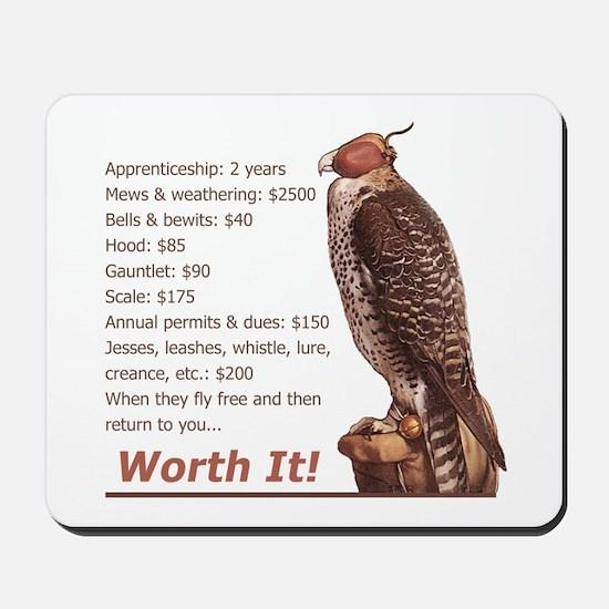 Falconry - Worth It! Mousepad