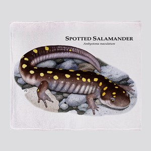 Spotted Salamander Throw Blanket