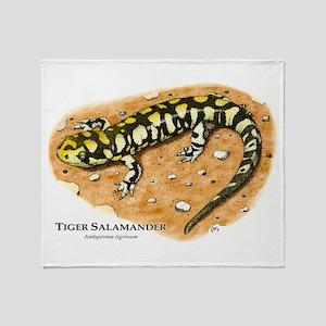 Tiger Salamander Throw Blanket