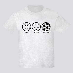 Eat Sleep Soccer Kids Light T-Shirt