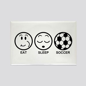 Eat Sleep Soccer Rectangle Magnet