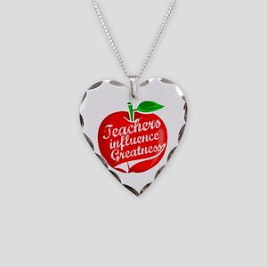 Education Teacher School Necklace Heart Charm