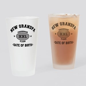 Personalized New Grandpa University Drinking Glass