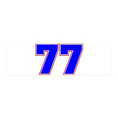 NUMBER 77 Wall Decal