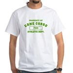 Customizable Cane Corso White T-Shirt