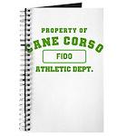 Customizable Cane Corso Journal