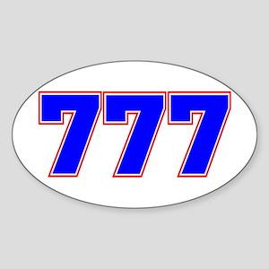 777 GOD Sticker (Oval)