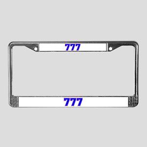 777 GOD License Plate Frame
