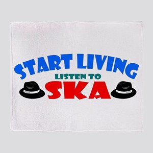 Start Living - Ska Throw Blanket