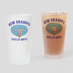 Personalized New Grandpa New Grandson Drinking Gla
