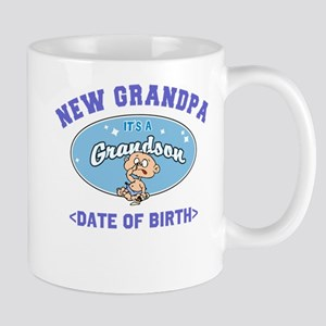Personalized New Grandpa New Grandson Mug