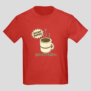 Funny Retro Coffee Humor Kids Dark T-Shirt