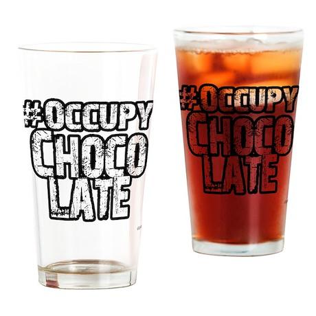 Occupy Chocolate Drinking Glass