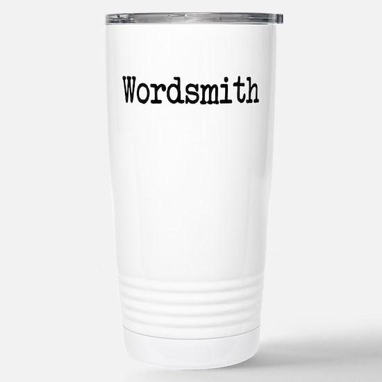 Wordsmith Stainless Steel Travel Mug