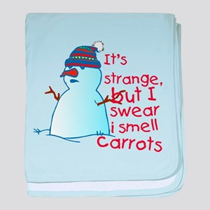 Smell Carrots baby blanket
