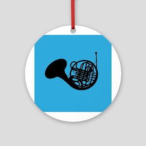 Horn Silhouette Music Ornament