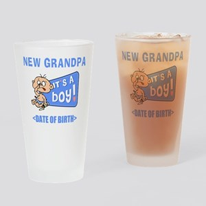 New Grandpa It's A Boy Personalized Drinking Glass