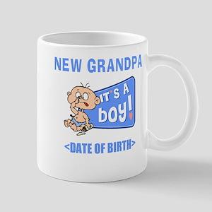 New Grandpa It's A Boy Personalized Mug