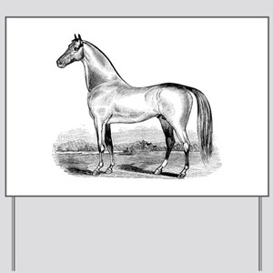 Quarter Horse Artwork Yard Sign