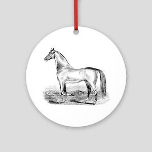 Quarter Horse Artwork Ornament (Round)